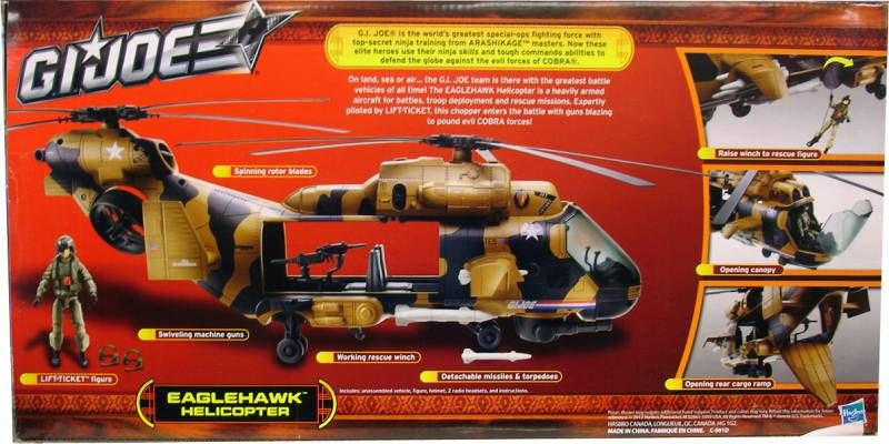 G.I.JOE 2013 - Eaglehawk Helicopter avec Lift-Ticket