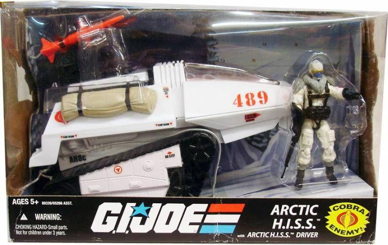G.I.JOE 25ème Anniversaire - 2009 - Cobra Arctic H.I.S.S. & Arctic H.I.S.S. Driver (loose avec boite)