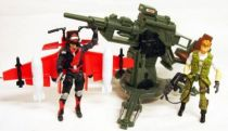 G.I.JOE 25ème Anniversaire - 2009 - Cobra C.L.A.W. & Strato-Viper vs. F.L.A.K. Cannon & Outback (loose)
