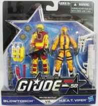 G.I.JOE 50th - 2014 - Heated Battle  Blowtorch & H.E.A.T. Viper