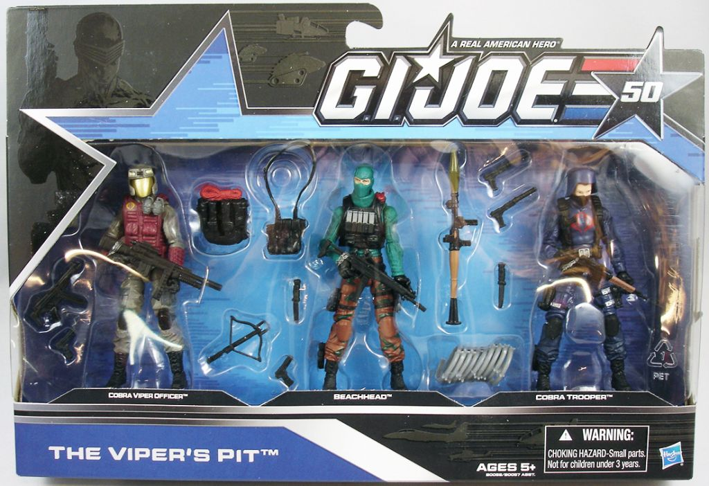 G.I.JOE 50th - 2014 - The Viper\'s Pit  Cobra Viper Officer, Beachhead, Cobra Trooper