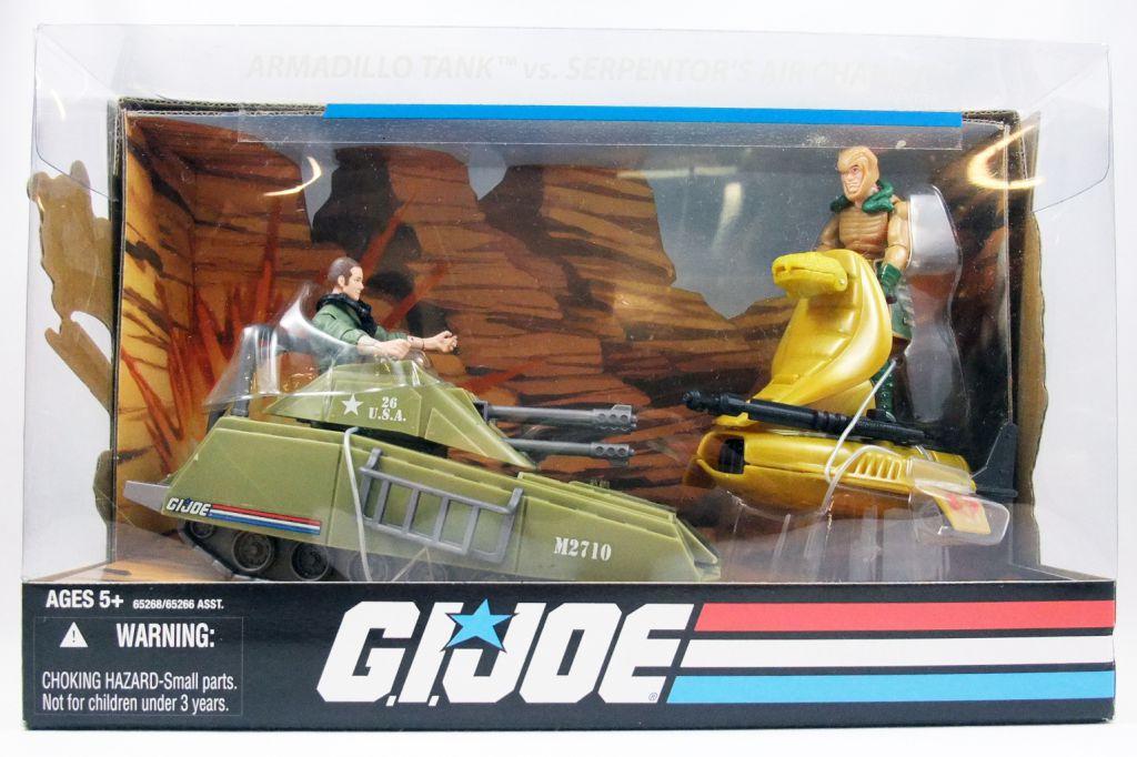G.I.JOE ARAH 25th Anniversary - 2008 - Armadillo Tank & Steeler vs. Air Chariot & Serpentor