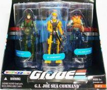 G.I.JOE ARAH 25th Anniversary - 2008 - G.I.Joe Sea Command : Deep Six, Torpedo, Cutter