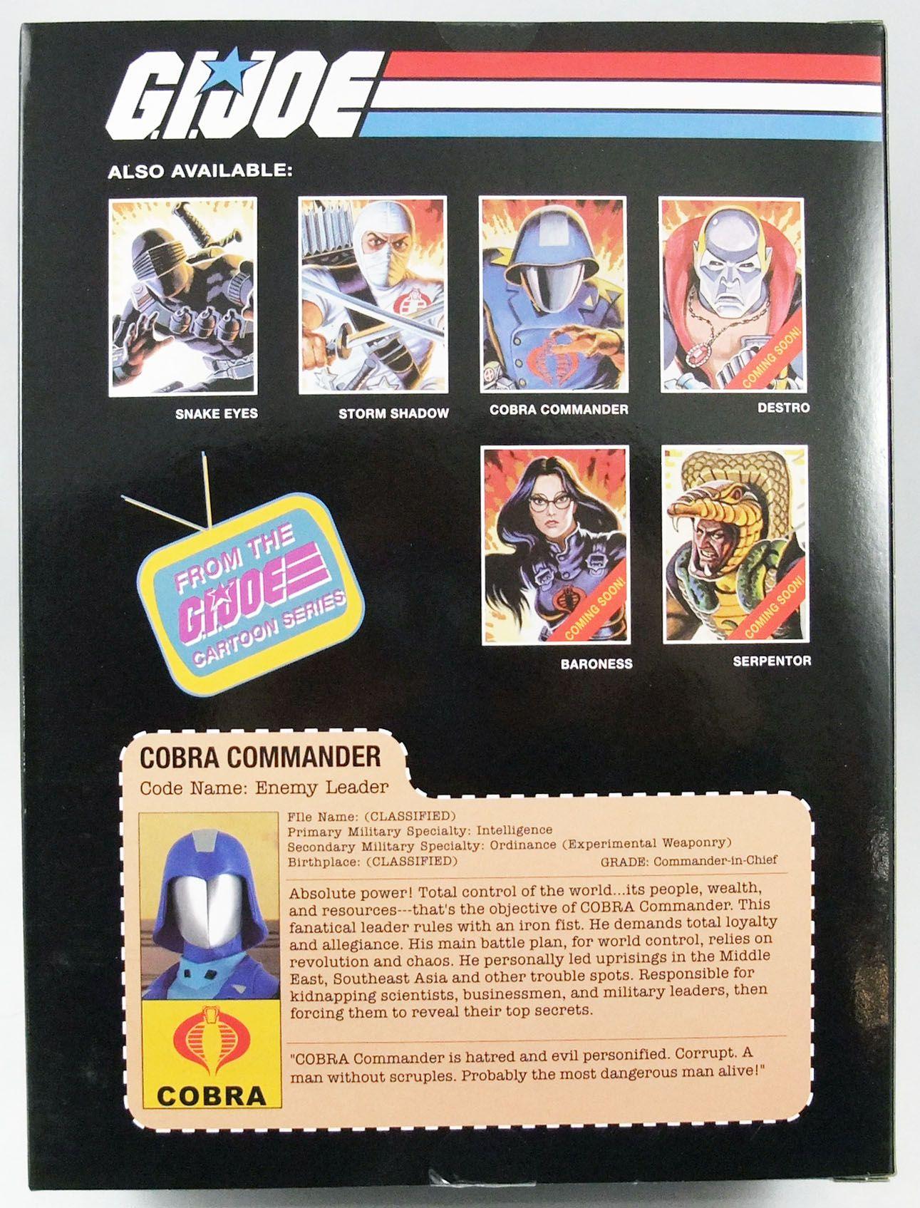 G.I.Joe Héros Sans Frontières - Statue PVC 23cm - Cobra Commander (Sunbow Animated Series)