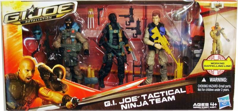 G.I.JOE Retaliation 2013 - G.I.Joe Tactical Ninja Team : Agent Mouse, Sgt. Airborne, Snake Eyes