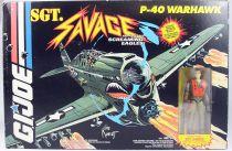 G.I.JOE Sgt. Savage & his Screaming Eagles - P-40 Warhawk & Fighter Pilot Sgt. Savage (neuf en boite)