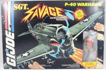 G.I.JOE Sgt. Savage & his Screaming Eagles - P-40 Warhawk & Fighter Pilot Sgt. Savage