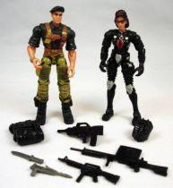 G.I.Joe vs. Cobra - 2002 - Flint & Baroness (loose)