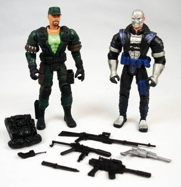 G.I.Joe vs. Cobra - 2002 - Gung-Ho & Destro (loose)