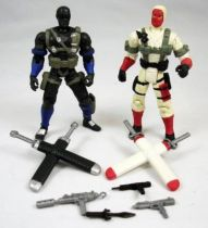 G.I.Joe vs. Cobra - 2002 - Snake Eyes & Storm Shadow (loose)