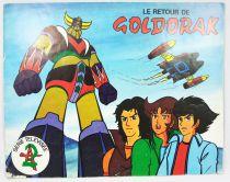 """Goldorak - Album de vignettes \""""Le Retour de Goldorak\"""" - A.G.E."""