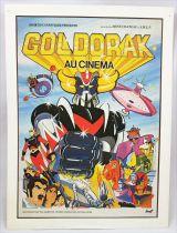 Goldorak au Cinéma - Affichette fiche technique d\'exploitation - Toei Dynamic Pictural AMLF-Paris