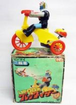 Goldorak en Tricycle - Jouet à remonter (Wind-Up) - Robin 1977
