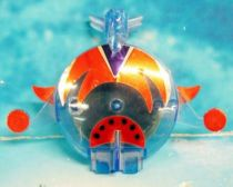 Grendizer - Flying saucer spinning top with launcher
