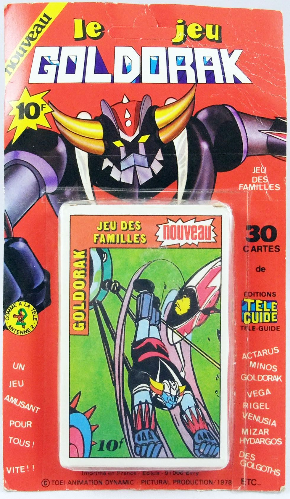 Grendizer - Goldorak Family card game (mint on card) - Editions Tele-Guide