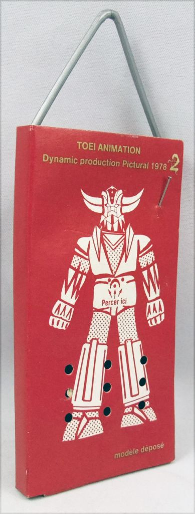 """Grendizer - Goldrake Air Freshener - Red \""""Bouquet\"""" - Toei Dynamic Pictural Antenne 2 1978"""