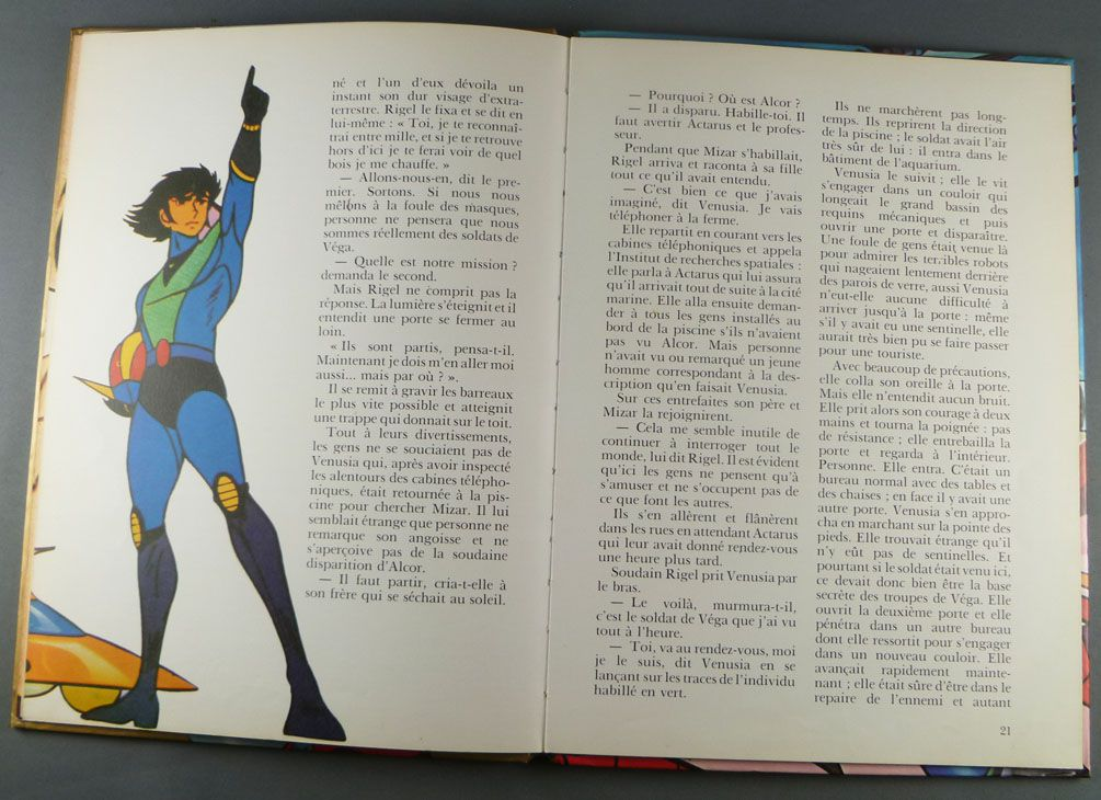 Grendizer - Story book G. P. Rouge et Or A2 edition - Grendizer : the shark with steel teeth