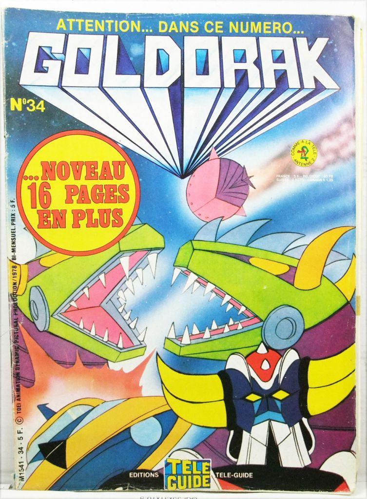 Grendizer - Tele-Guide Editions - Goldorak Monthly Magazine #34