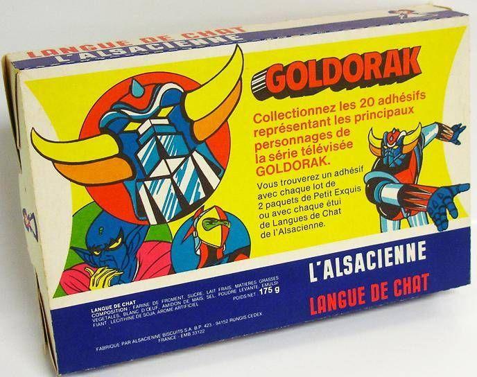 Grendizer - vintage l\'Alasacienne cookie carton