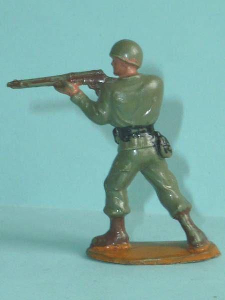 Guilbert - 54mm - WW2 - Gi Us Marine standing firing rifle