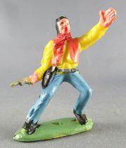 Guilbert - Far-West - Cow-boy 1 revolver bras gauche levé chemise jaune