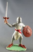 Guilbert - Middle-Age - Footed Raising Sword & Rond Shield