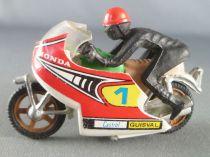 Guisval Moto de course Honda N°1 avec pilote