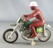 Guisval Moto de cross Greeves N°18 kaki pilote marron