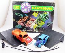 Gyro Jets Stunt Cars - Meccano - VW Beetle & Pick-Up (loose with box)
