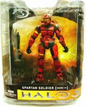 Halo 3 - Series 1 - Spartan Soldier [MARK VI] Red Version