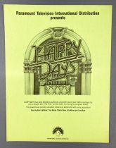 Happy Days - Paramount Pictures (1982) - Fiche Promotionnelle