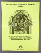 Happy Days - Paramount Pictures (1982) - Promotional Information Sheet