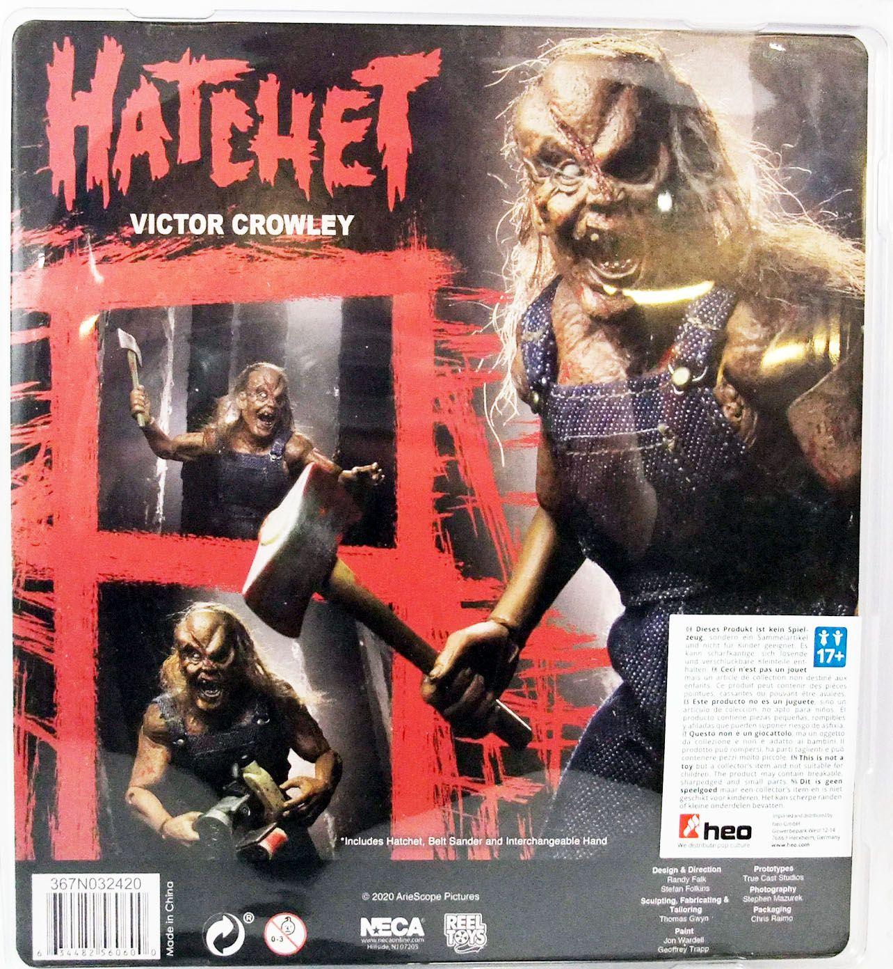 """Hatchet - Victor Crowley - 8\"""" clothed retro figure - NECA"""