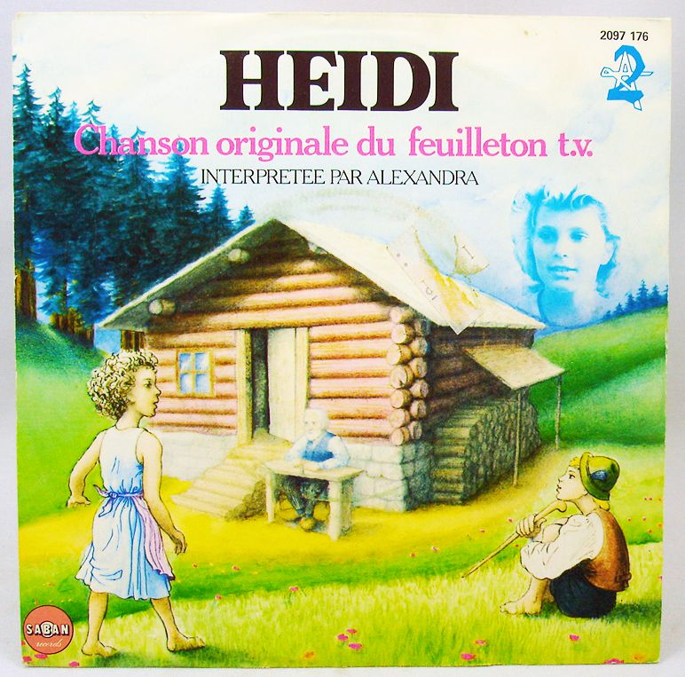 Heidi - Original French TV series song - Mini-LP Record - Saban Records 1982