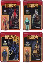 Hellboy - Super7 - Set de 4 Figurines Re-Action : Liz Sherman, Abe Sapien, Lobster Johnson, Hellboy