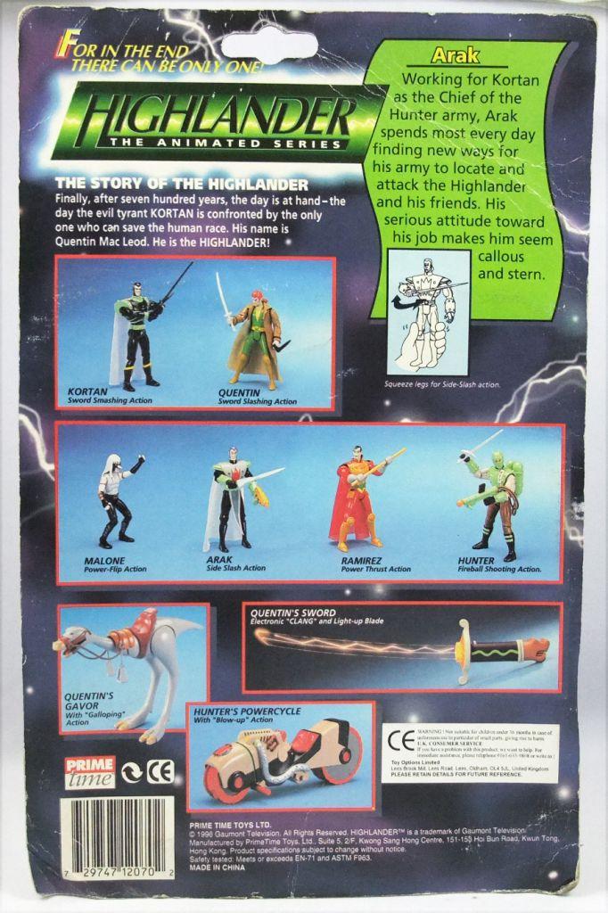 Highlander The Animated Series - Arak - Figurine Prime Time Toys