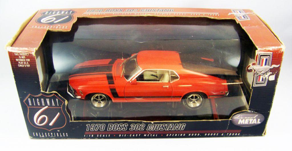 Highway 61 Collectibles 1970 Boss 302 Mustang 1/18ème (Diecast Metal)