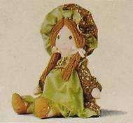 Holly Hobbie - Knickerbocker - Amy, Holly Hobbie\'s friend 8\'\' Stuffed Doll (Mint in Box)