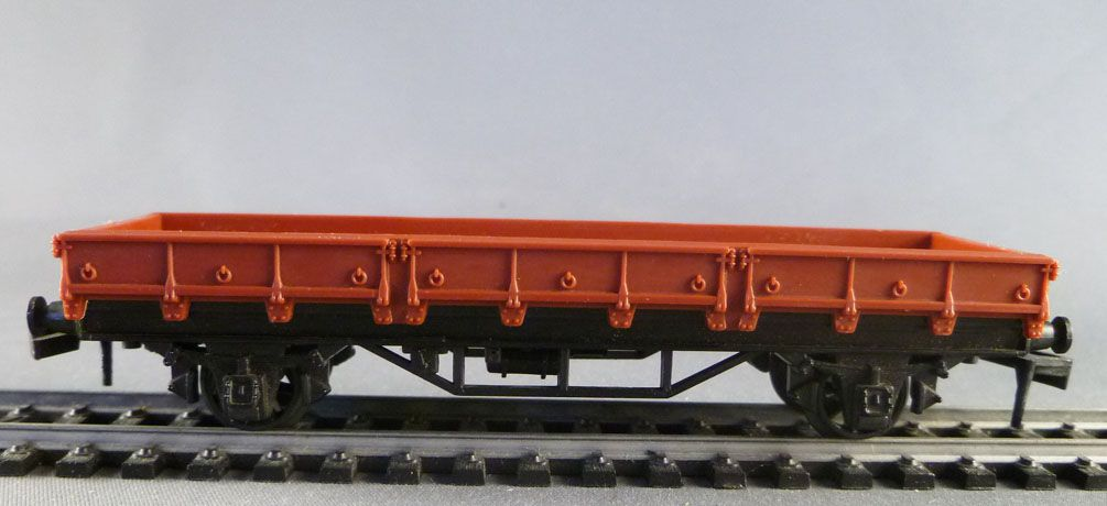 Hornby AcHo 7180 Ho Sncf Flat Wagon Brown Livery
