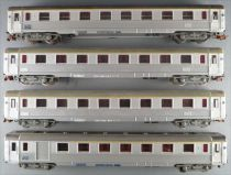 Hornby AcHo Sncf Rame 4 Voitures Dev Inox dont 1 Fourgon