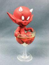 Hot Stuff (Harvey Comics) - Figurine Résine 15cm Démons et Merveilles - Hot Stuff dans une coupe à Champagne