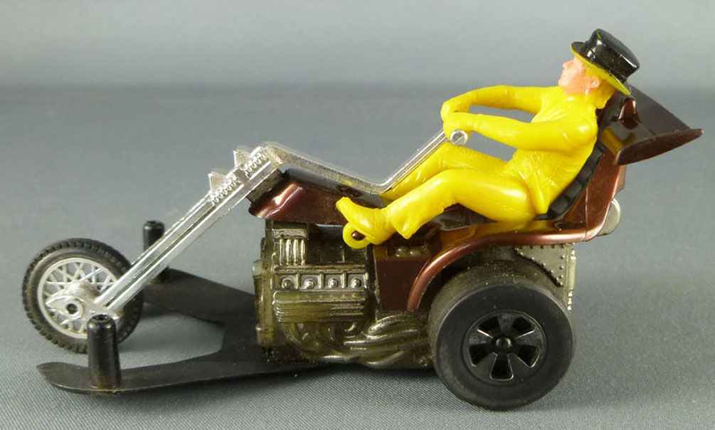 Hot Wheels Mattel Années 70 Chopcycle Pilote Jaune