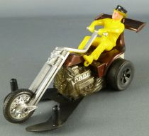 Hot Wheels Mattel Années 70 Chopcycle Pilote Jaune