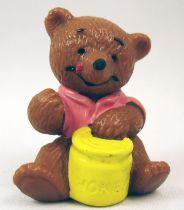 Ida Bohatta - Figurine pvc Bully 1983 - Ourson assis avec pot de miel