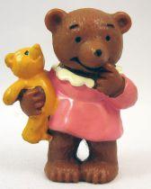 Ida Bohatta - Figurine pvc Bully 1983 - Oursonne avec poupée
