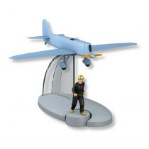 In Plane Tintin - Editions Hachette - 043 The Blue Aircraft (Mr. Pump\'s Testament)