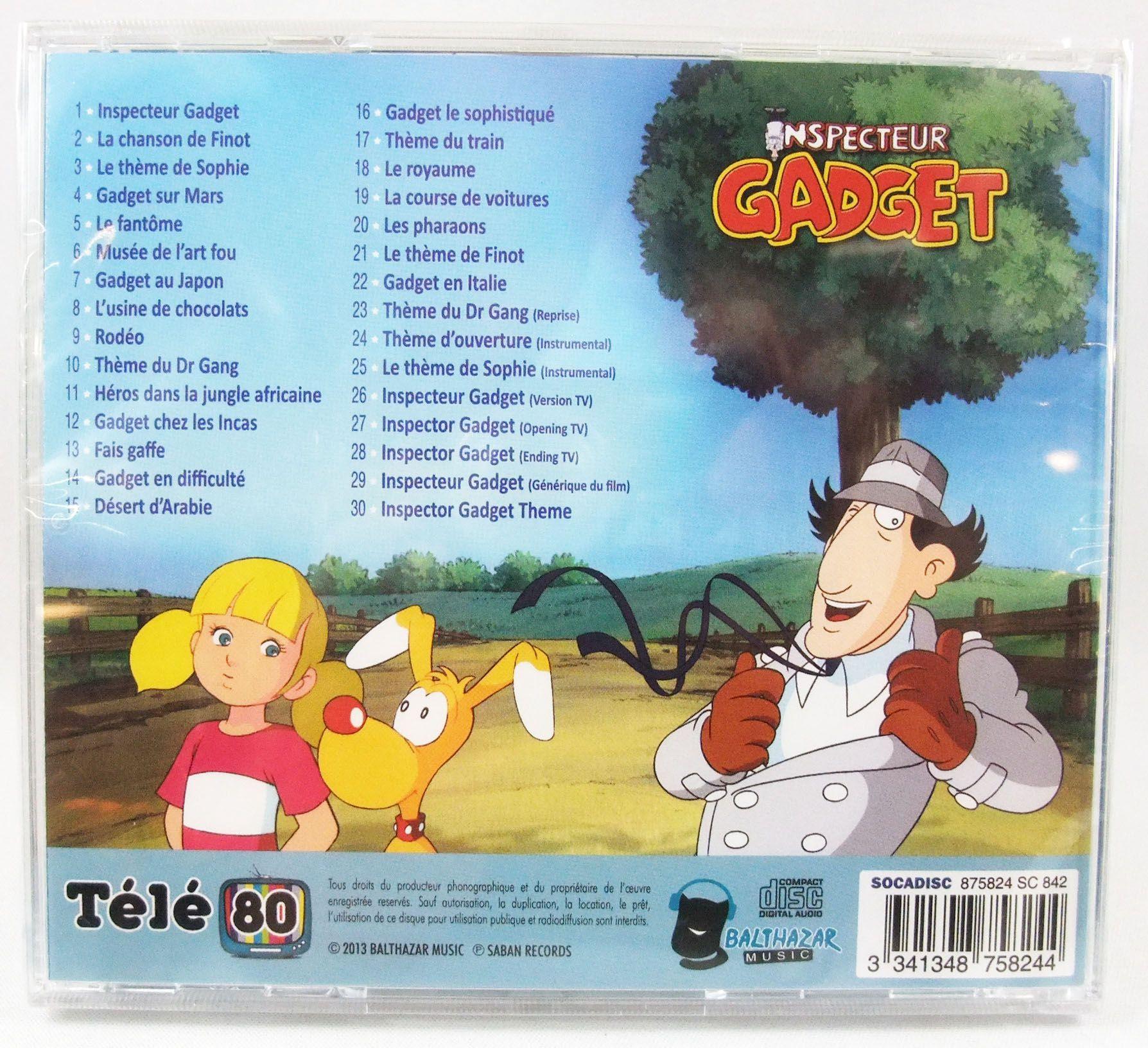 Inspecteur Gadget - CD audio Télé 80 - Bande originale remasterisée