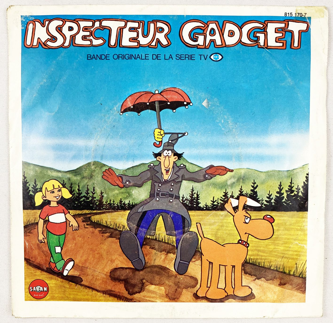 Inspector Gadget - Mini-LP Record - Original French TV series Soundtrack - Saban Records 1983