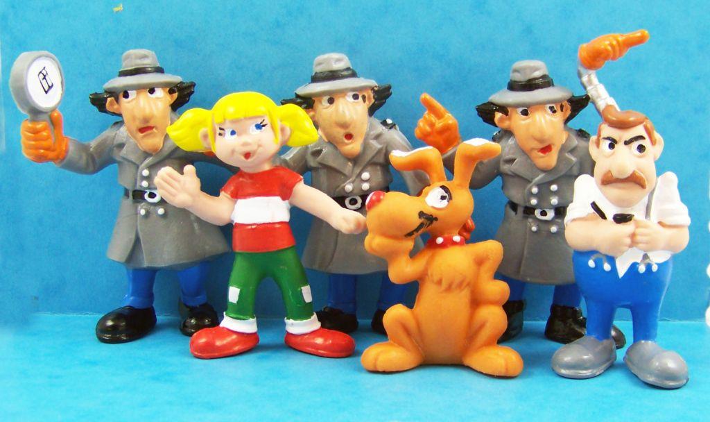Inspector Gadget Set Of 6 Pm Pvc Figures Inspector Gadget