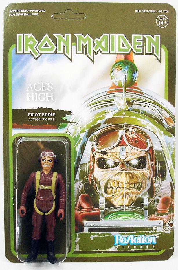 Iron Maiden - Super7 ReAction Figure - Pilot Eddie (Aces High)
